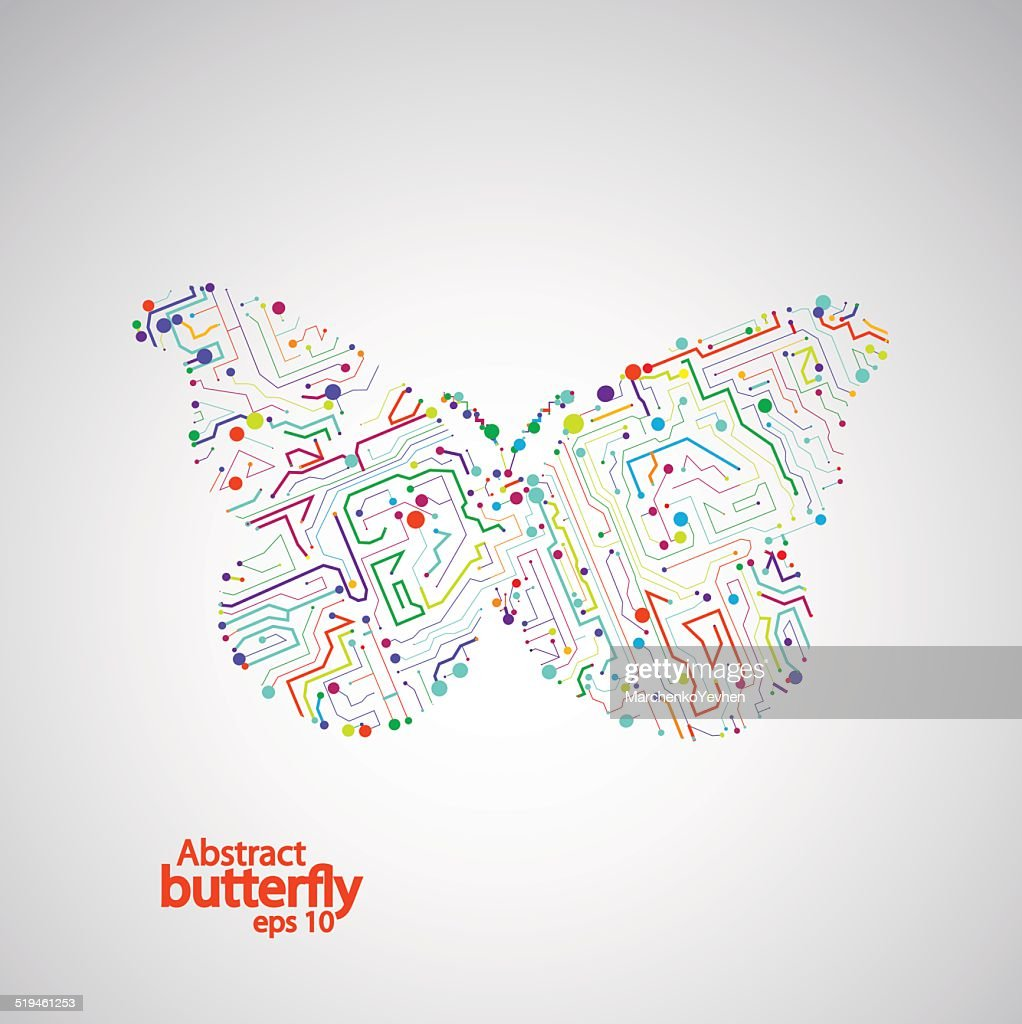 Circuit Board Butterfly Eps 10 Vector Art Getty Images Diagram