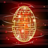 Circuit board egg red