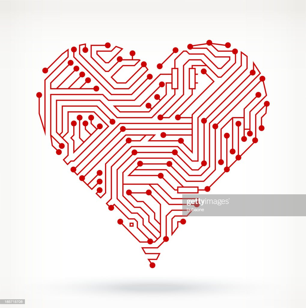 Circuit Board Hearts Symbol Vector Art Getty Images Diagram Symbols
