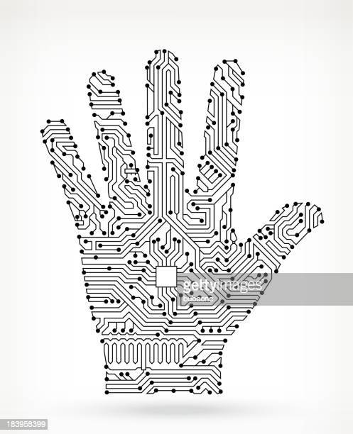 Circuit Board Human Palm