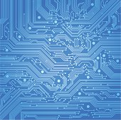 Circuit board illustration background
