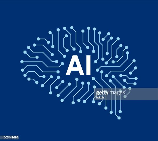 circuit board in the cyborg brain, artificial intelligence of digital human. - brain stock illustrations