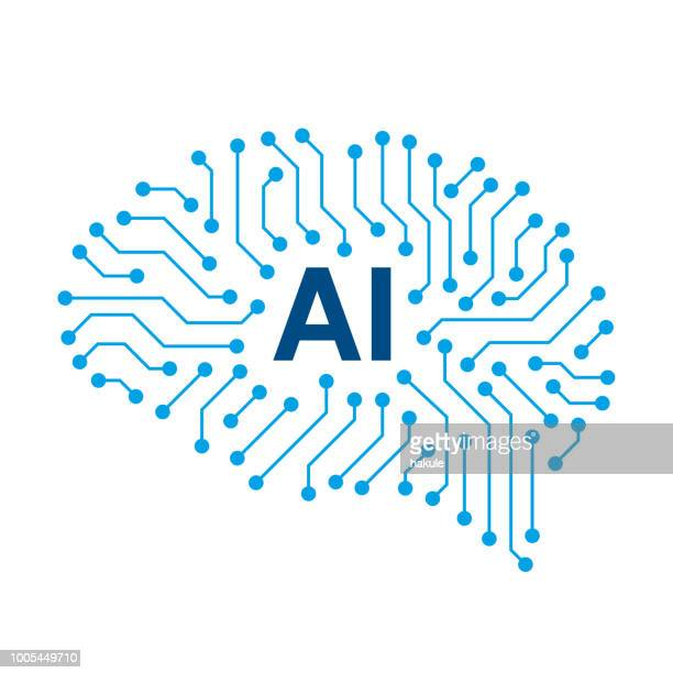 circuit board in the cyborg brain, artificial intelligence of digital human. - artificial stock illustrations