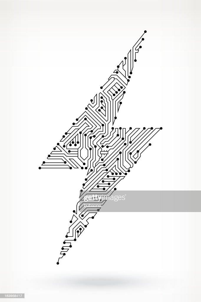 Lightning Bolt Vector Art. lightning bolt graphic clipart and ...