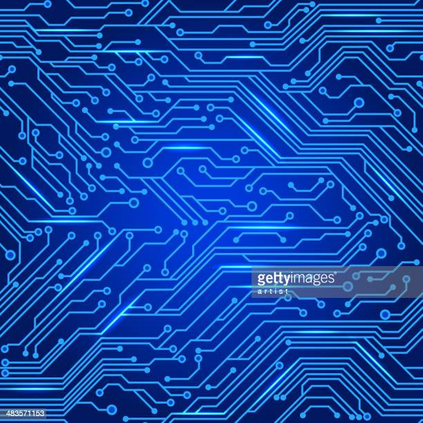 circuit board pattern - computer chip stock illustrations
