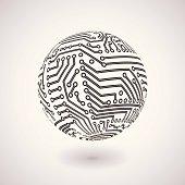 Circuit board sphere