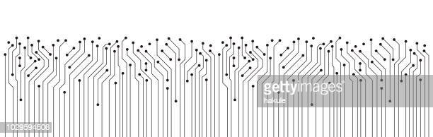 circuit board texture background, seamless pattern - electricity stock illustrations, clip art, cartoons, & icons