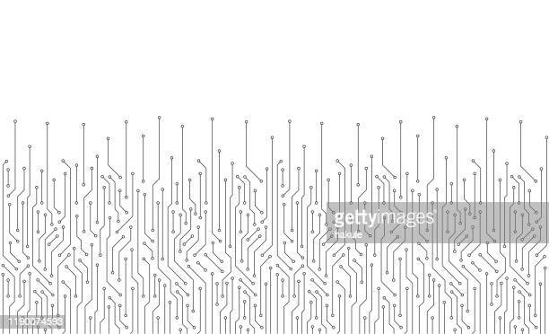 circuit board texture background, seamless pattern - computer graphic stock illustrations
