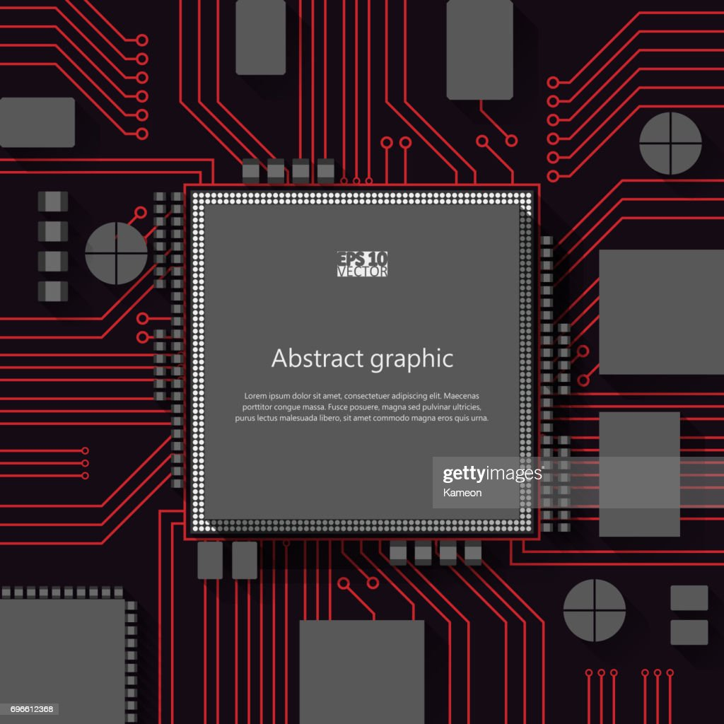 Circuit Board Vector Background Eps10 Illustration Art With Place For Text