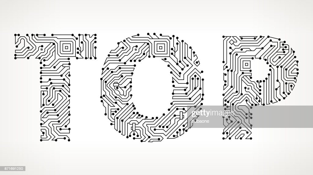 Top Circuit Board Vector Buttons Vector Art   Getty Images