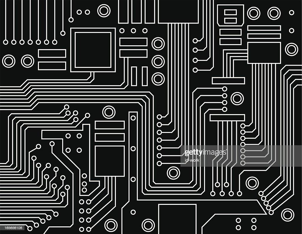Motherboard Circuit Illustration: Circuit Board Vector Art