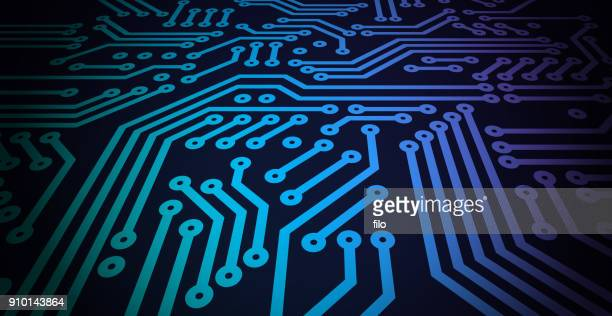 circuit board - close up stock illustrations