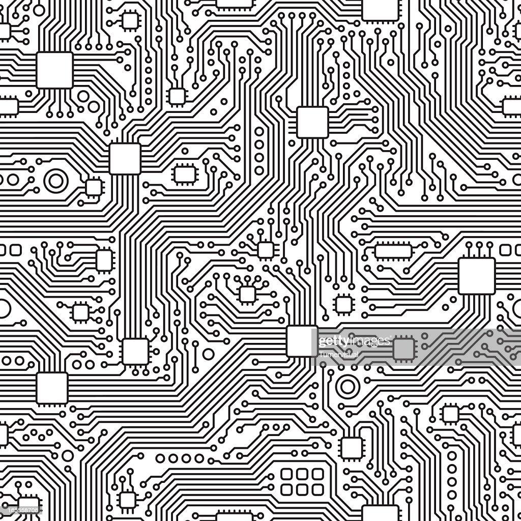 Circuit Board Vector - Seamless Tile