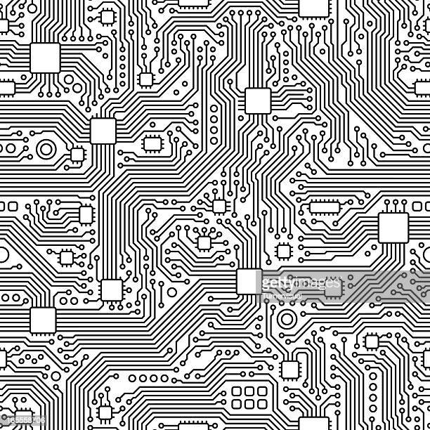 circuit board vector - seamless tile - intricacy stock illustrations