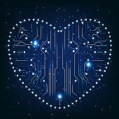 Circuit board with in heart shape pattern