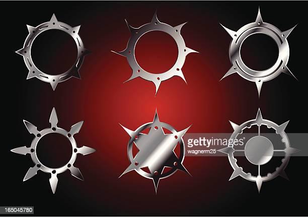 circular blades - sharp stock illustrations, clip art, cartoons, & icons