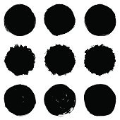 Circular Brush Stroke Set