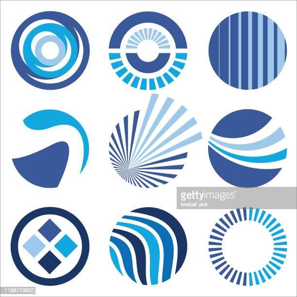 circular company logos 2 - generic description stock illustrations, clip art, cartoons, & icons