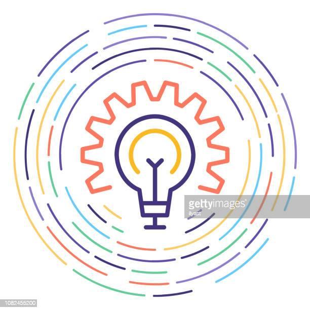 illustrazioni stock, clip art, cartoni animati e icone di tendenza di circular economy line icon illustration - economia