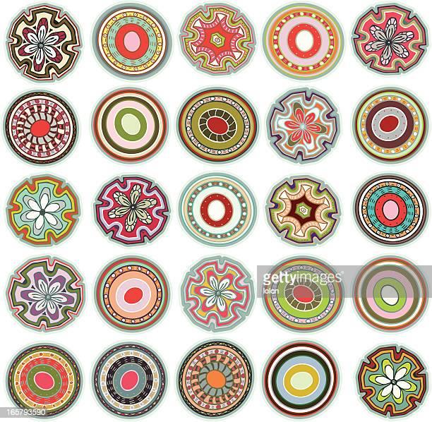 illustrations, cliparts, dessins animés et icônes de circular collection elements - culture indigène