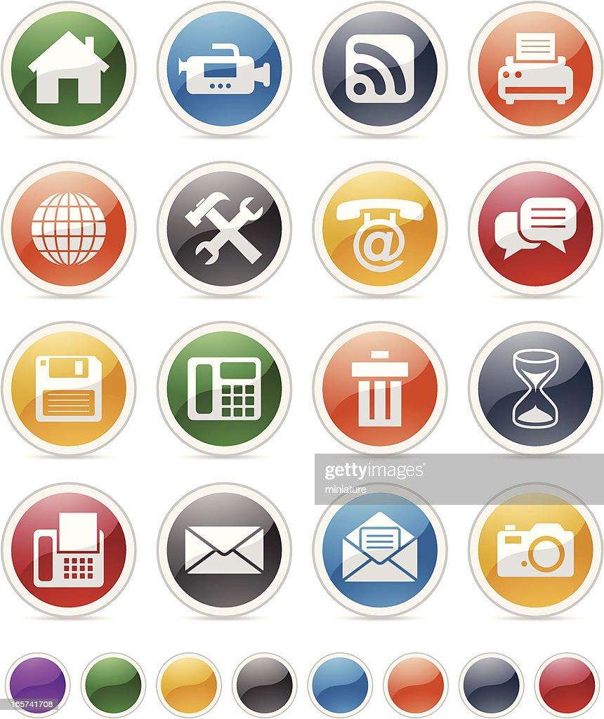 circular internet button