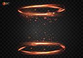 Circular light effect vector fire ring.
