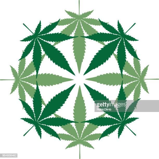 circular marijuana map - hemp stock illustrations, clip art, cartoons, & icons