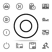 circular notation icon. web icons universal set for web and mobile