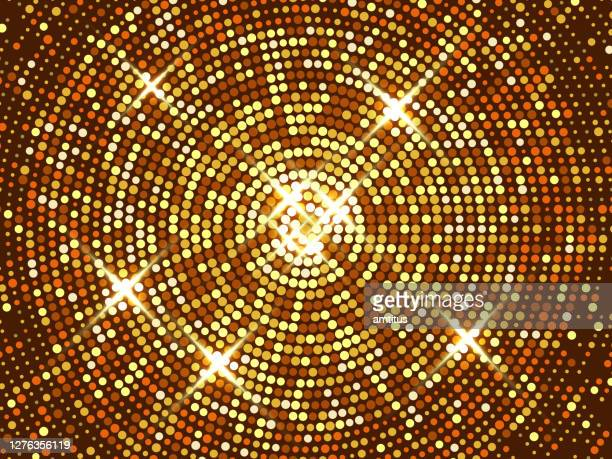 circular party lights - fashion show stock illustrations
