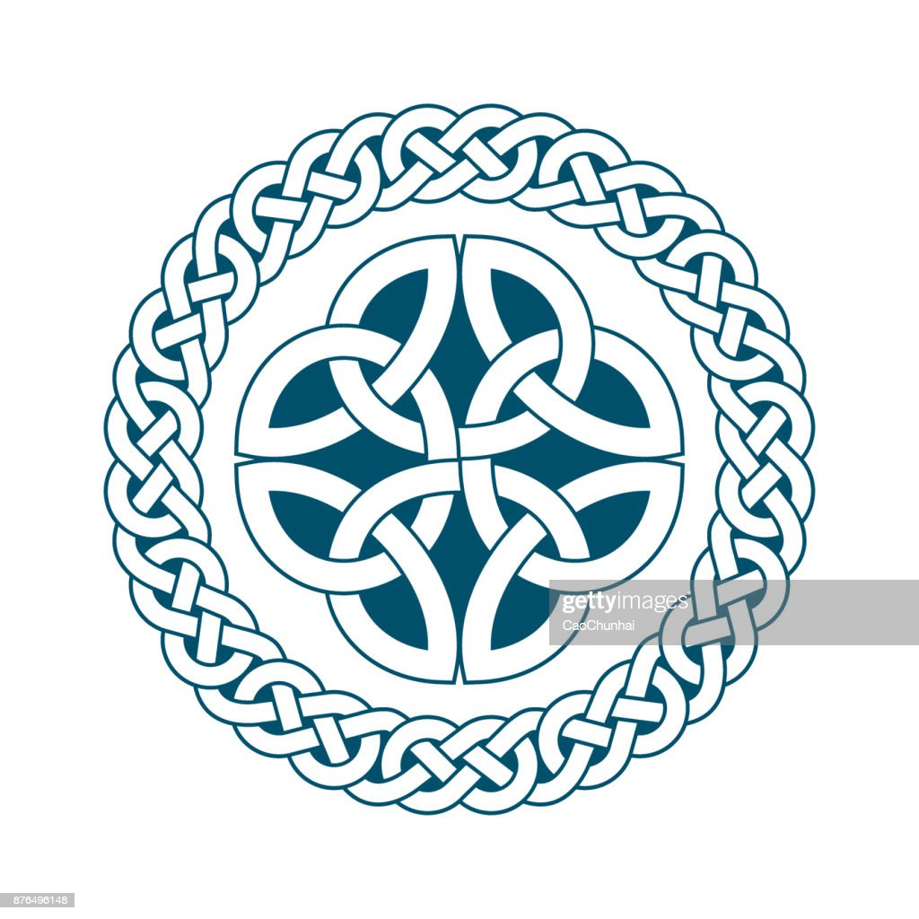 Circular pattern of Medieval style(Celtic knot)-02