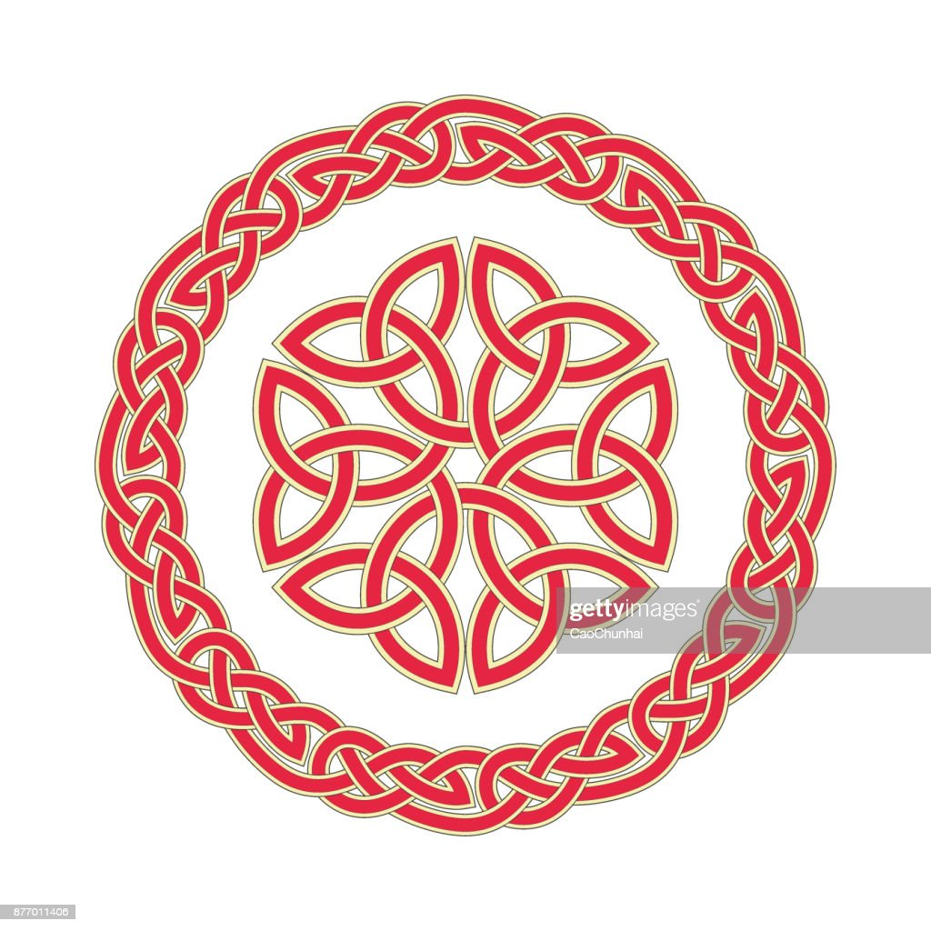 Circular pattern of Medieval style(Celtic knot)-05