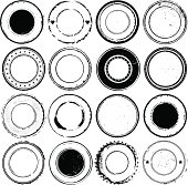 Circular Rubber Stamps