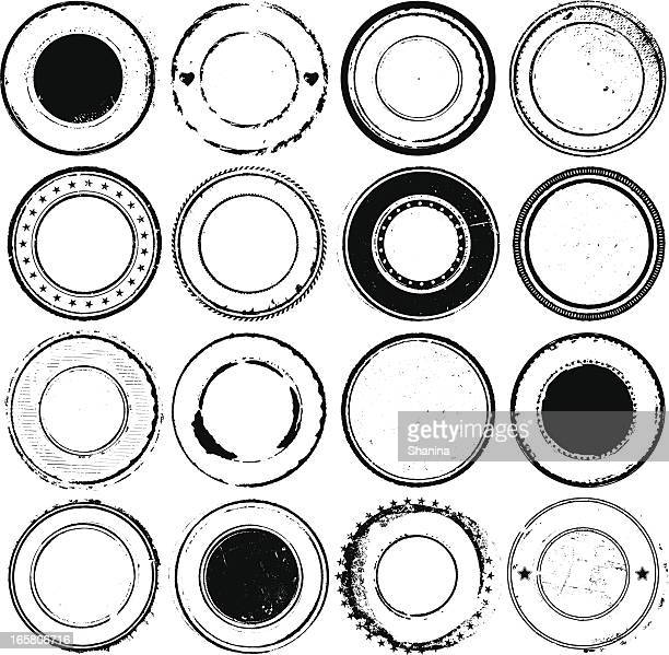circular rubber stamps - seal stock illustrations