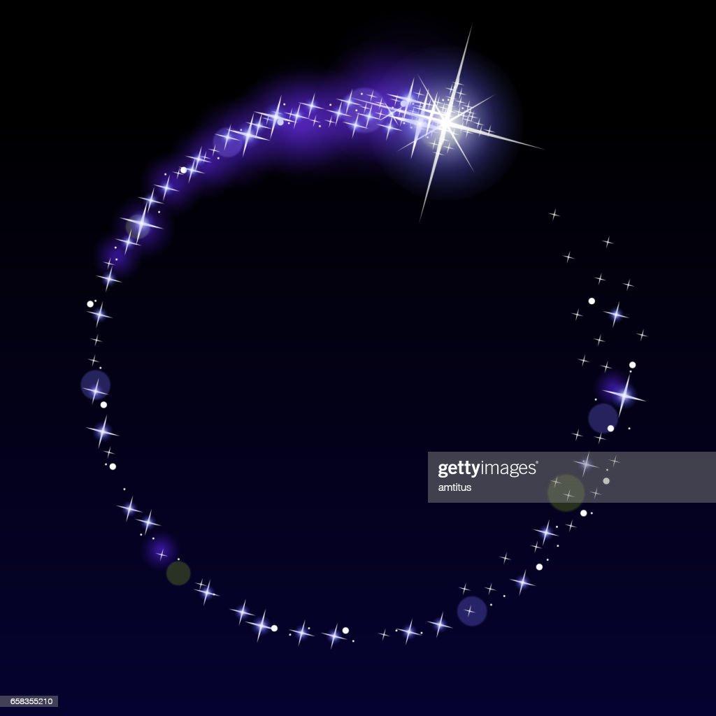 Circular Shooting star : stock illustration