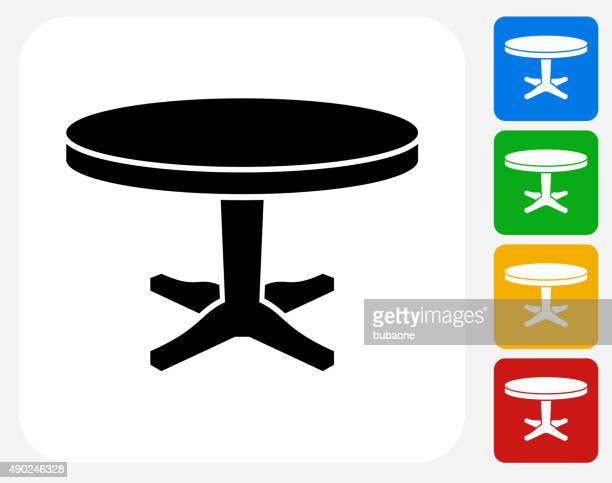 Circular Table Icon Flat Graphic Design