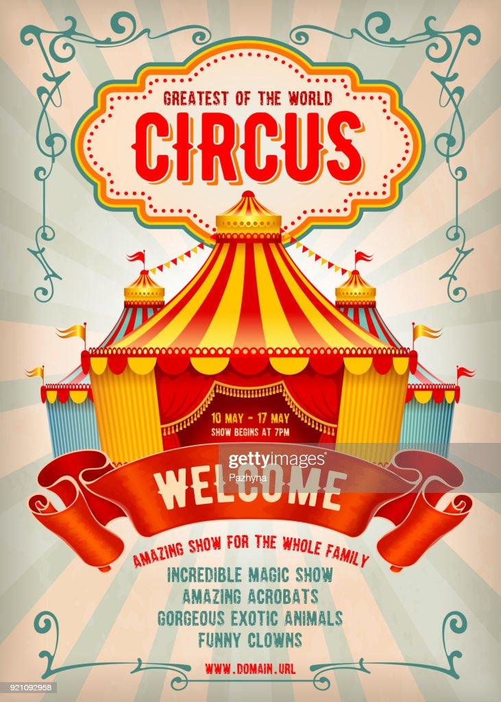 Circus advertising poster