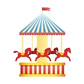 Circus and amusement park vector illustration