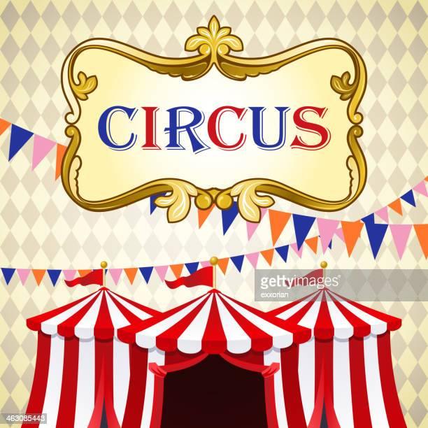 circus background - circus tent stock illustrations, clip art, cartoons, & icons