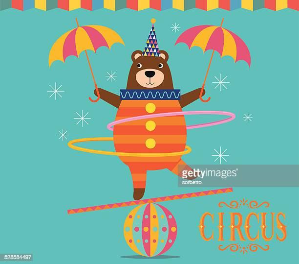 Circus Bear juggling