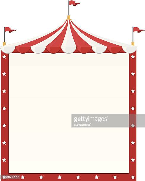 circus border - tent stock illustrations, clip art, cartoons, & icons