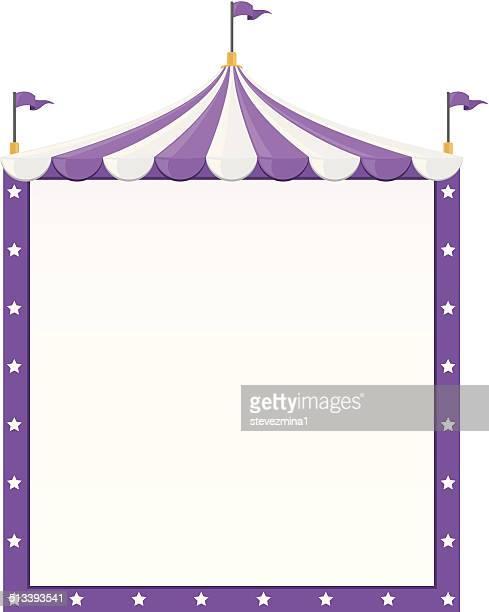 circus border - school carnival stock illustrations, clip art, cartoons, & icons