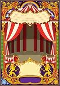 Circus Card Template Vector