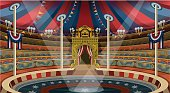 Circus Carnival Banner Tent Invite Theme Park Vector Illustration