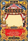 Circus Carnival Invite vintage 2d vector