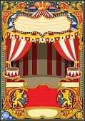Circus Cartoon Vector Decoration