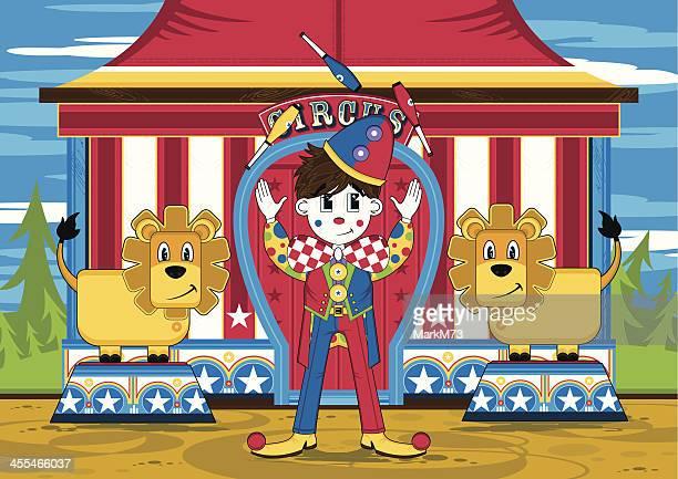 Circus Clown et Lions