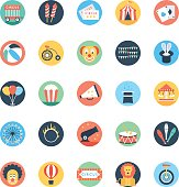 Circus Colored Vector Icons 1