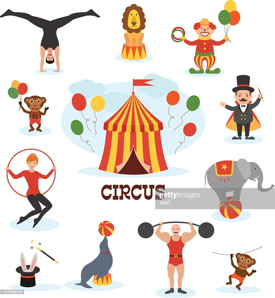 Circus flat design collection