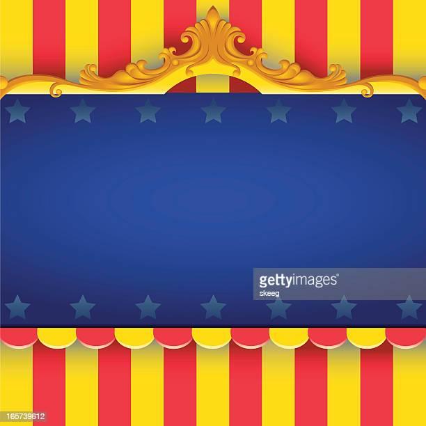 ilustraciones, imágenes clip art, dibujos animados e iconos de stock de bastidor de circo - carpa de circo