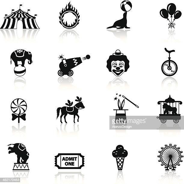ilustraciones, imágenes clip art, dibujos animados e iconos de stock de icono de circo - carpa de circo